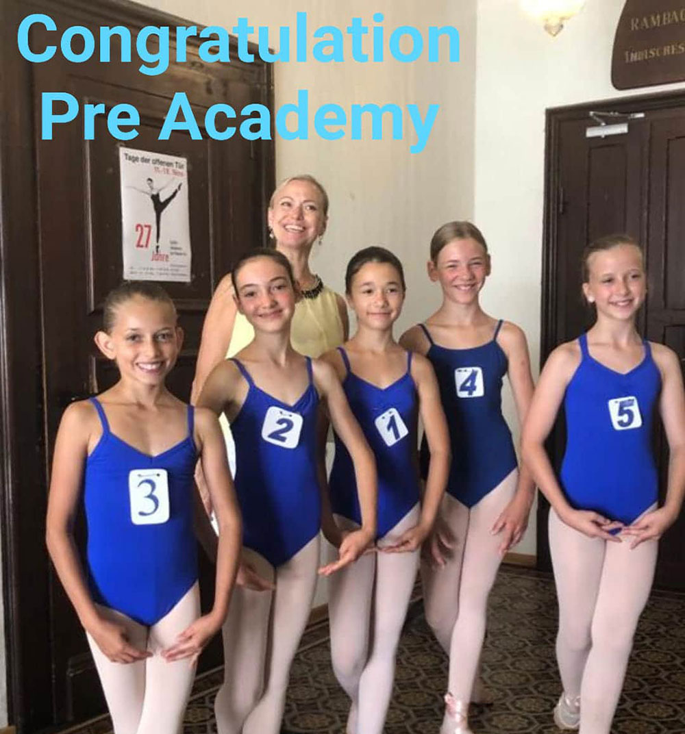 Ballettakademie am Theater Konstanz, Congratulations Pre-Academy